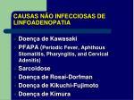 causas n o infecciosas de linfoadenopatia