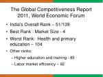 the global competitiveness report 2011 world economic forum