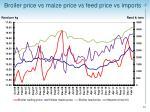 broiler price vs maize price vs feed price vs imports