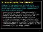 5 management of change