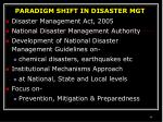 paradigm shift in disaster mgt
