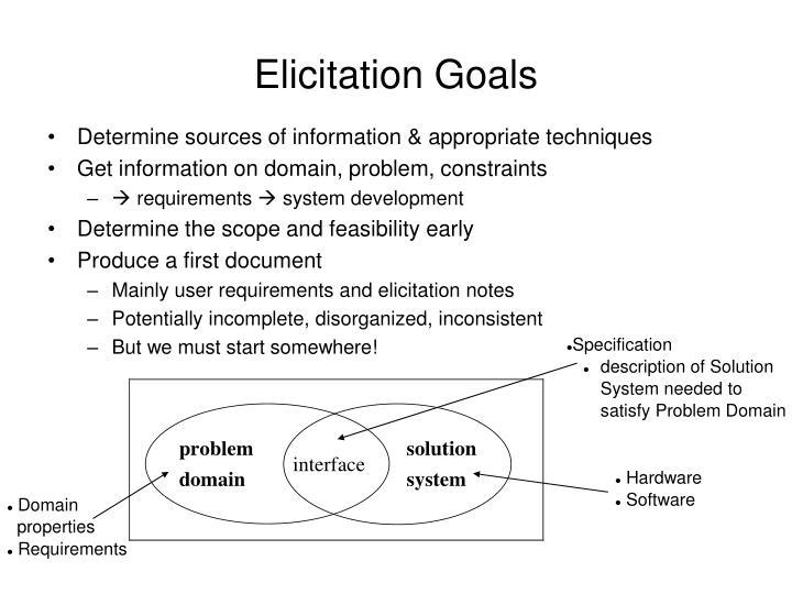 Elicitation Goals