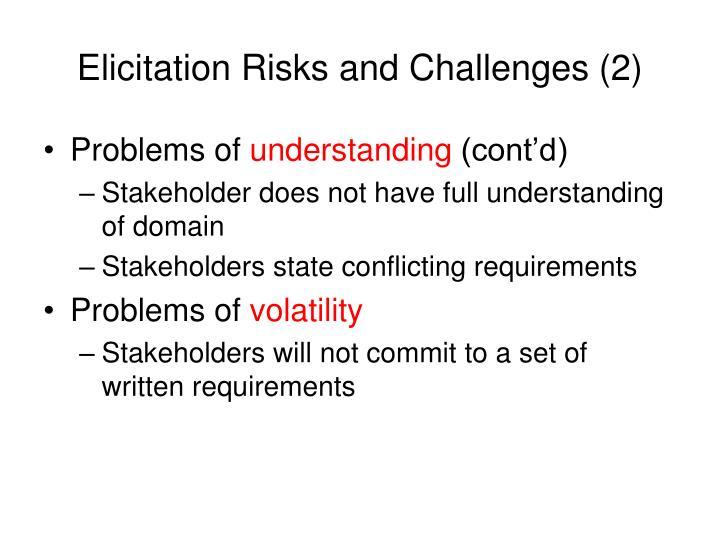Elicitation Risks and Challenges (2)