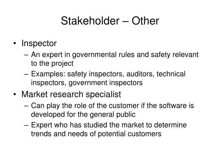 Stakeholder – Other