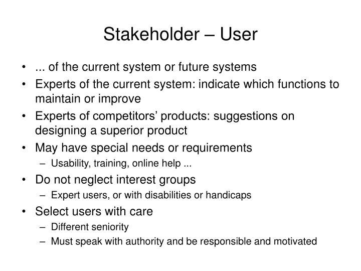 Stakeholder – User