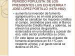 periodo populista de los presidentes luis echeverria y jose lopez portillo 1970 1982