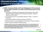 organizational success a catalyst for innovations and partnership