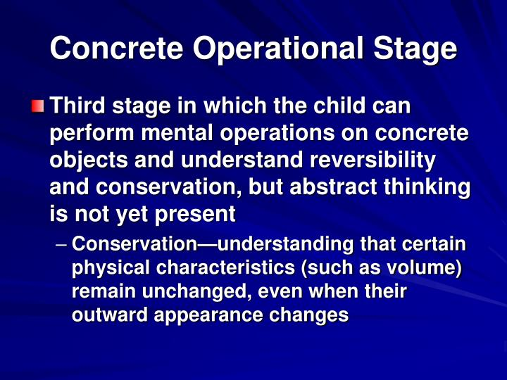 Concrete Operational Stage