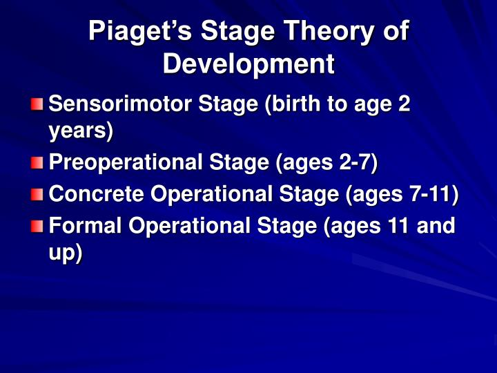 Piaget's Stage Theory of Development