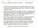 cost effectiveness data australia