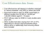 cost effectiveness data issues