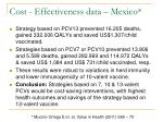 cost effectiveness data mexico