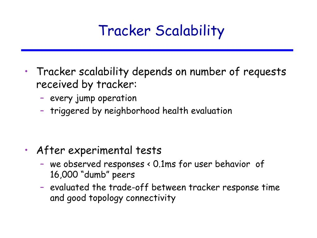 Tracker Scalability