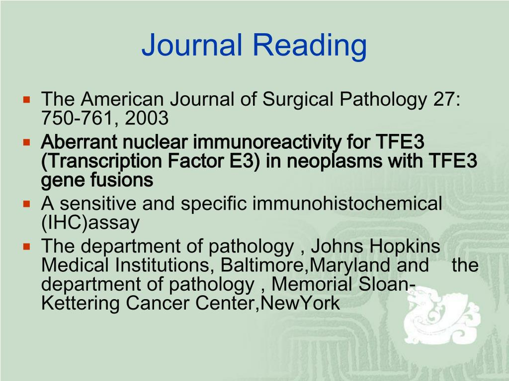 PPT - Journal Reading PowerPoint Presentation - ID:945351