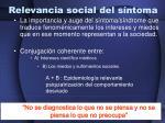 relevancia social del s ntoma