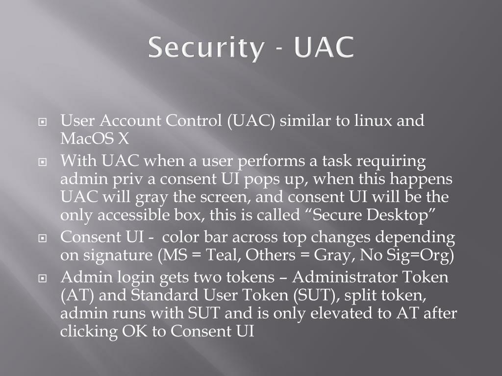 Security - UAC