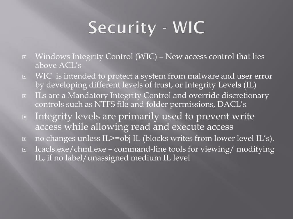 Security - WIC