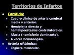 territorios de infartos