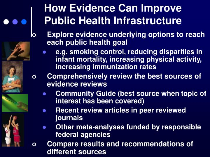 How Evidence Can Improve Public Health Infrastructure
