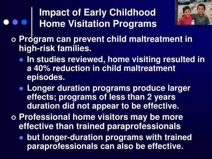 Impact of early childhood home visitation programs