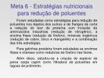 meta 6 estrat gias nutricionais para redu o de poluentes
