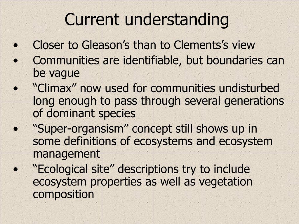 Current understanding
