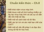 chu n ki n th c ch ii