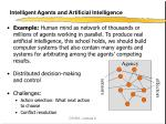intelligent agents and artificial intelligence