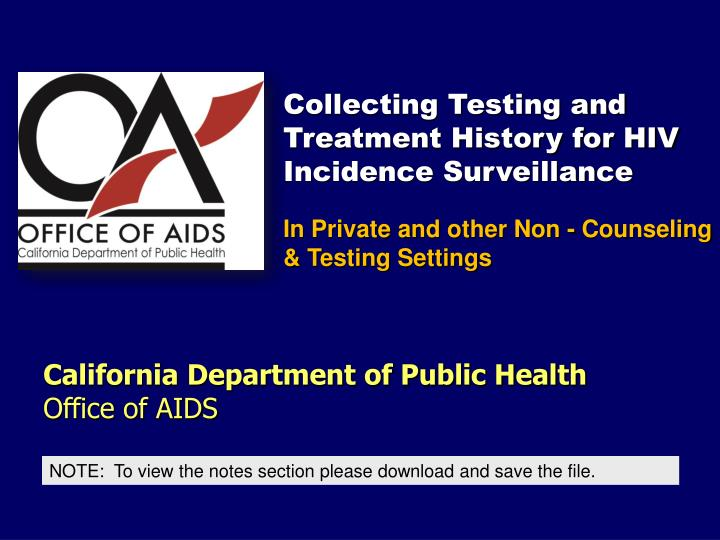 california department of public health office of aids n.
