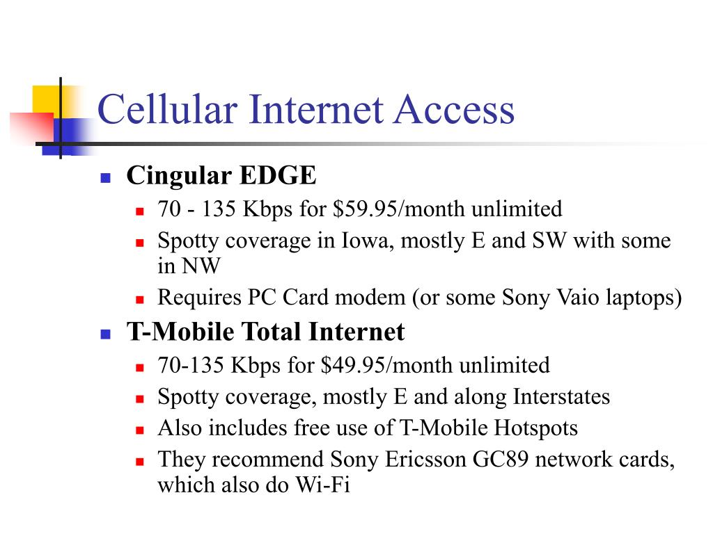 Cellular Internet Access
