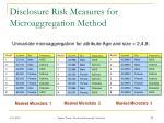 disclosure risk measures for microaggregation method2