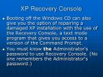 xp recovery console