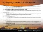 1b salgsargumenter for exchange 2007