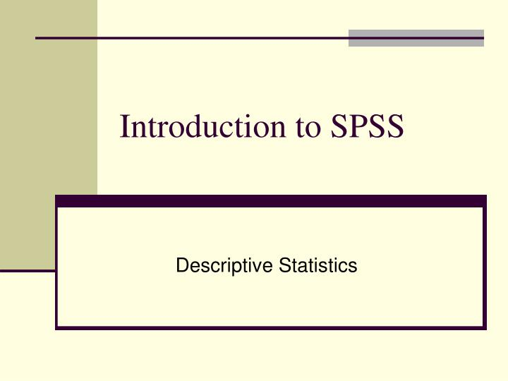 introduction to spss n.