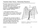 transition state theory elementary reactions