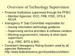 overview of technology supervision