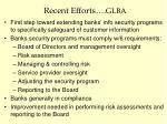 recent efforts glba