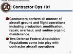 contractor ops 101