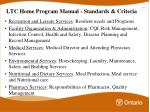 ltc home program manual standards criteria2