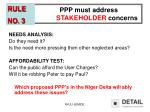 ppp must address stakeholder concerns
