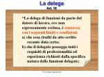 la delega art 16