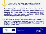 ataskaita po projekto u baigimo