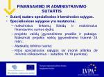 finansavimo ir administravimo sutartis