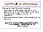 barreras de la comunicaci n
