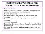 componentes vervales y no verbales de la comunicacion