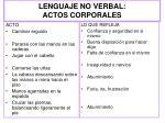 lenguaje no verbal actos corporales1