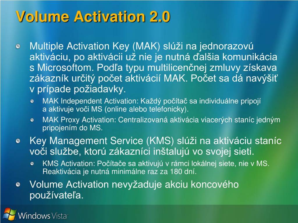Volume Activation 2.0