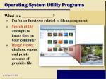 operating system utility programs20