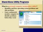 stand alone utility programs49