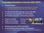 innovation excellence awards 2004 rfp